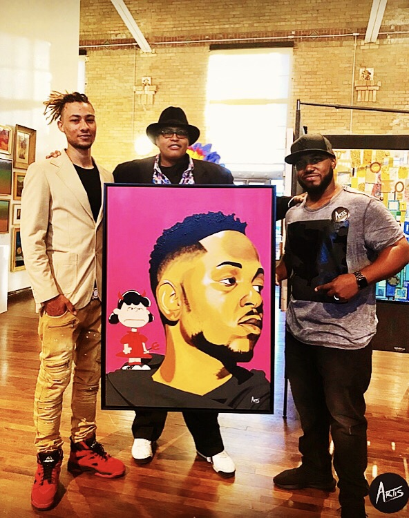 Live at The Black Art in America Show with the new owners of D' Evils of Lucy, Tori & Najee Dorsey
