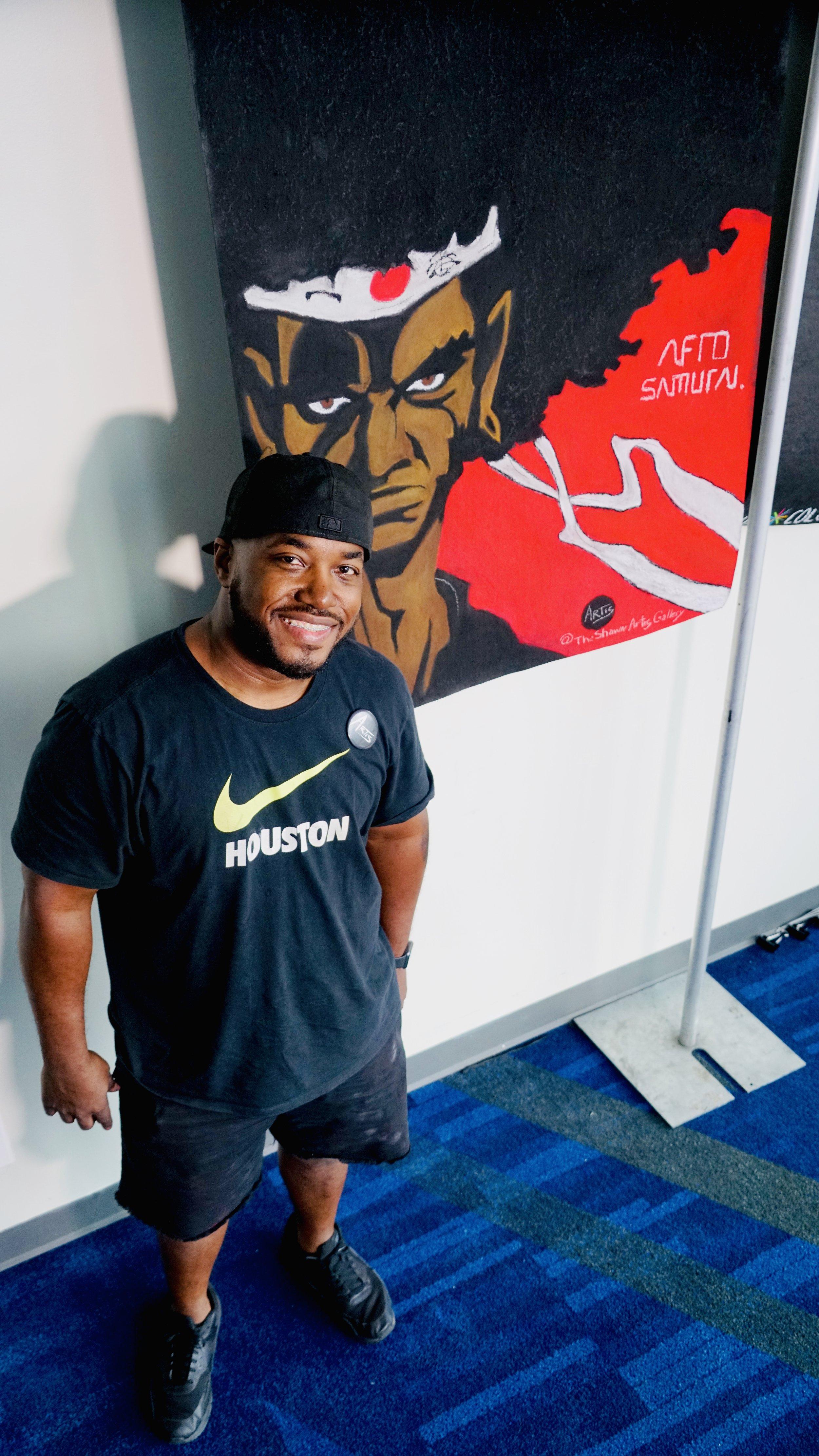 Afro Samurai created live at Comicapalooza 2019