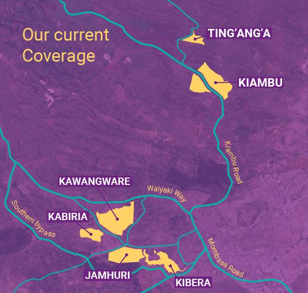 Coverage in Nairobi, Kenya