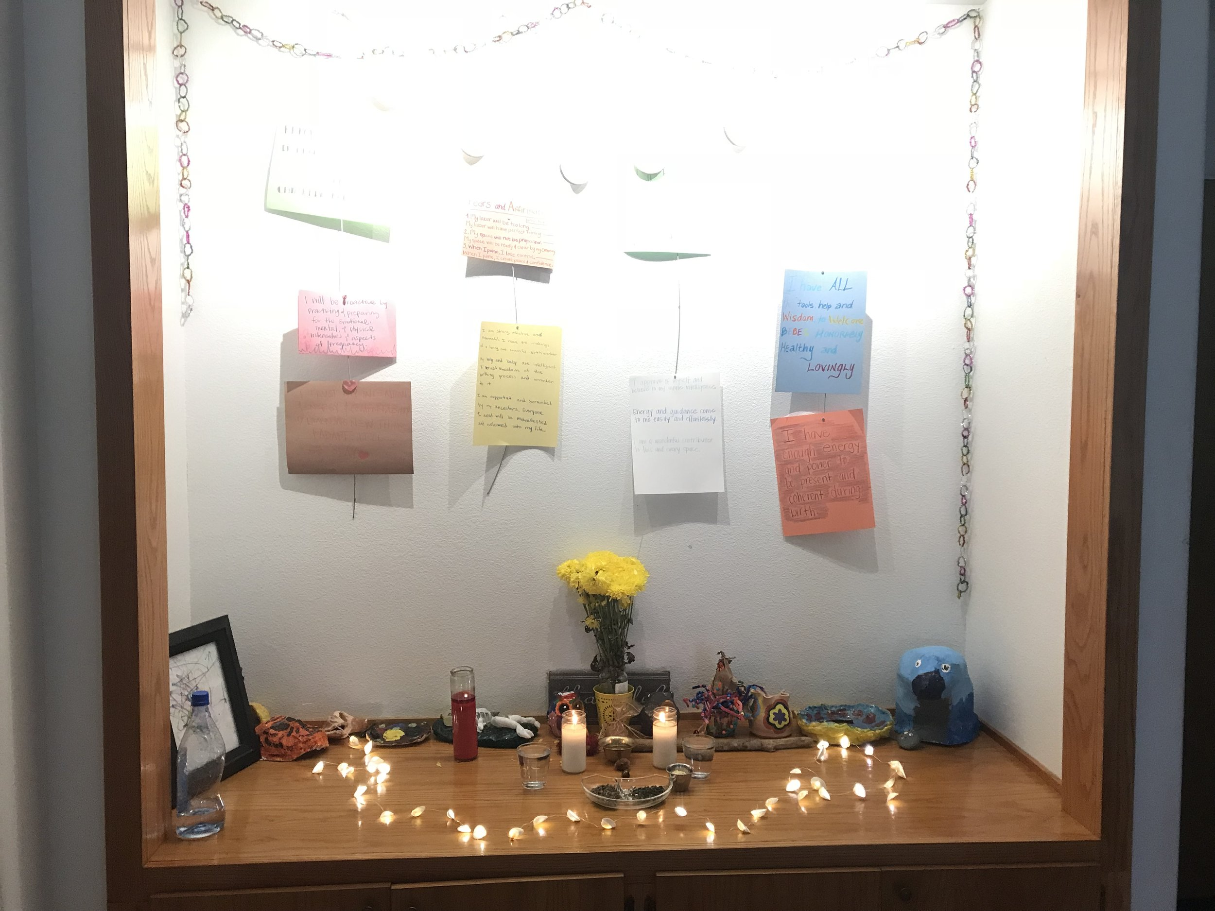 Our altar space