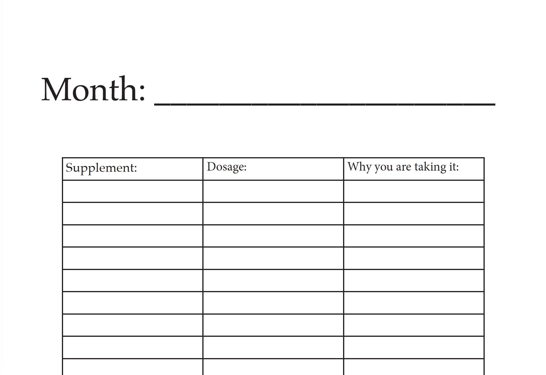 Medication Tracker PDF