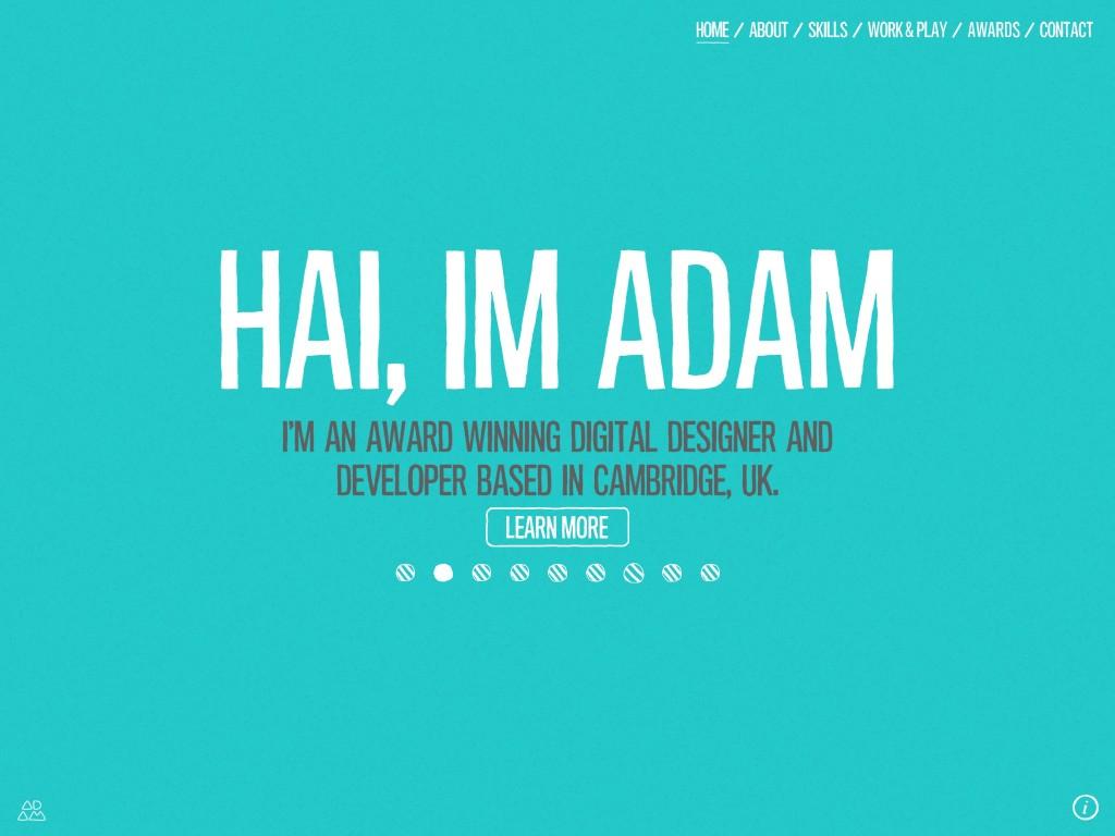 Portfolio website of Adam Hartwig.http://www.adamhartwig.co.uk