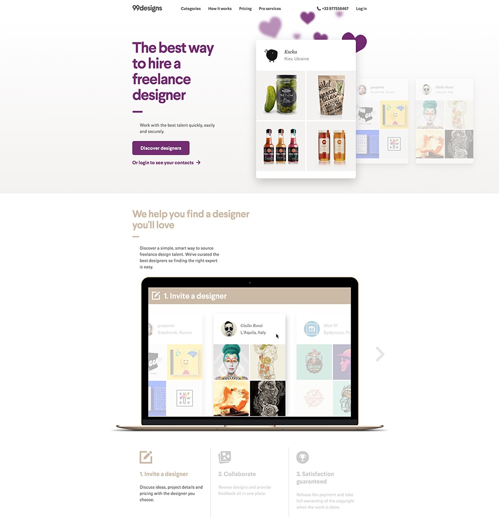 99 Designs – 1-1 Projects