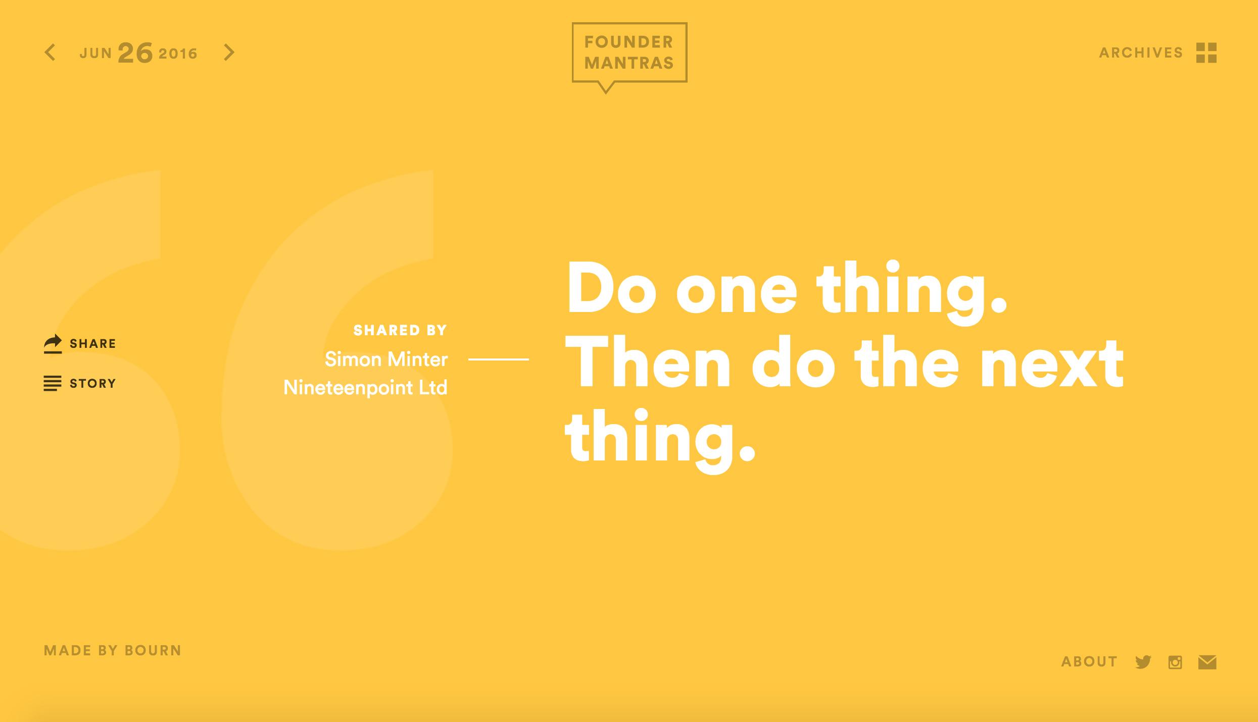 Founder Mantras http://foundermantras.com