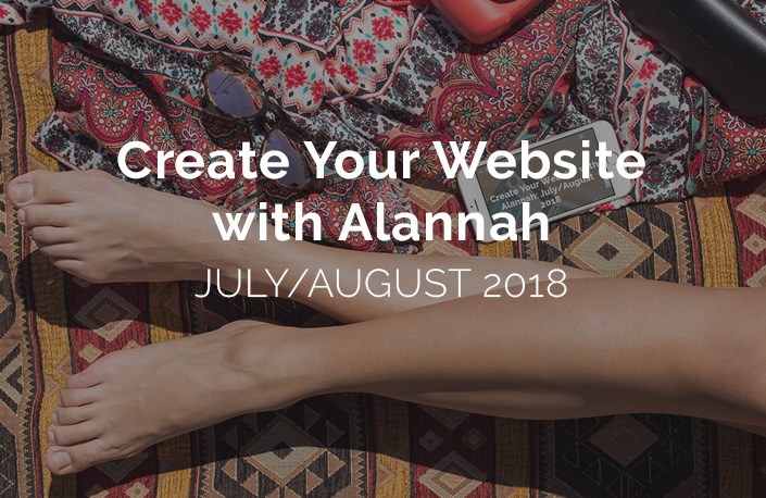 Summer website-building program you can join any time from July 2. - A combination of pre-recorded videos and checklists and real live help to keep you on track. WordPress/Squarespace and other options too! Precise instructions to help you finally get your website built.