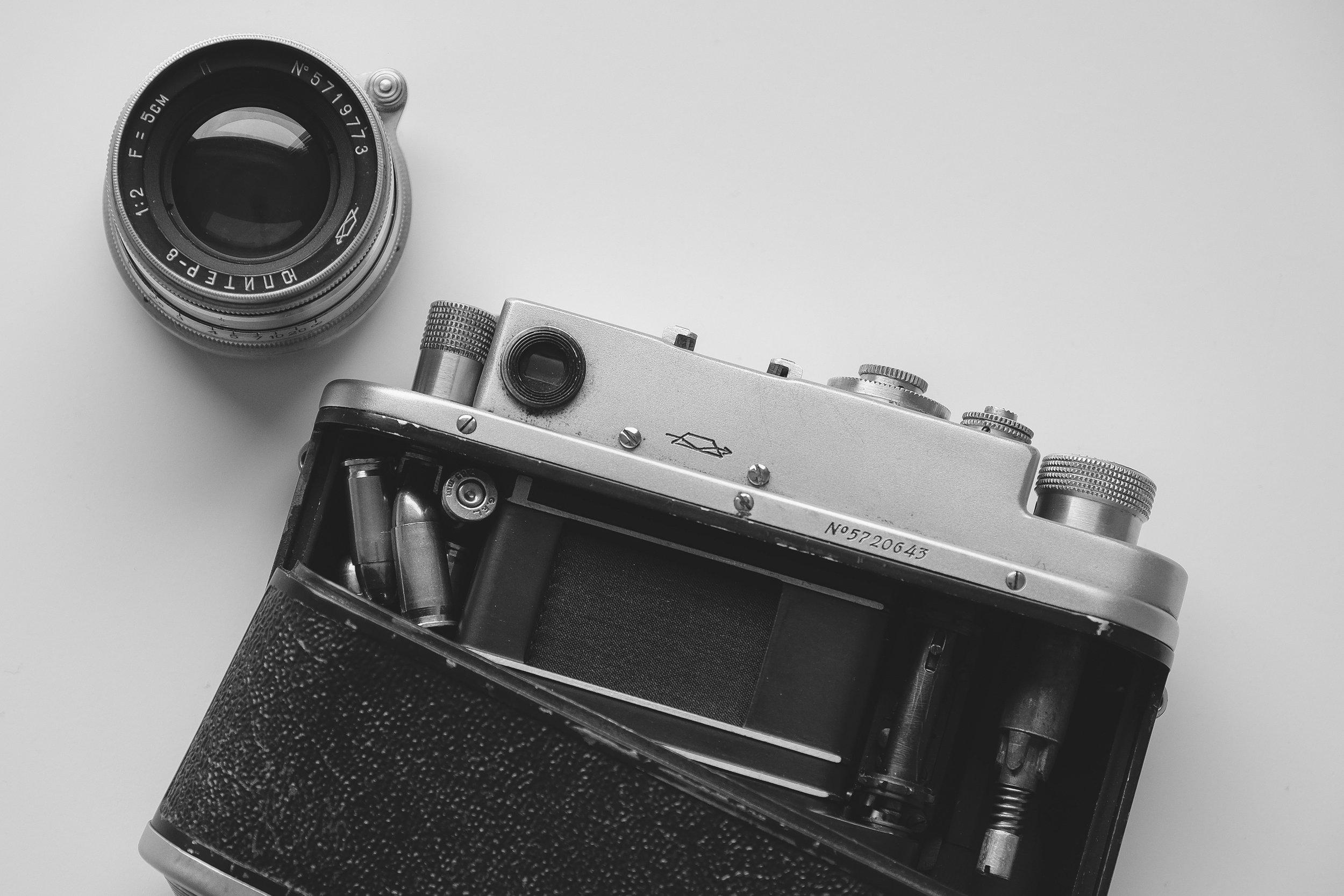 """Russen-Leica"" KMZ Zorki 4 mit Jupiter-8 Objektiv (Foto:  Oliver Symens )"