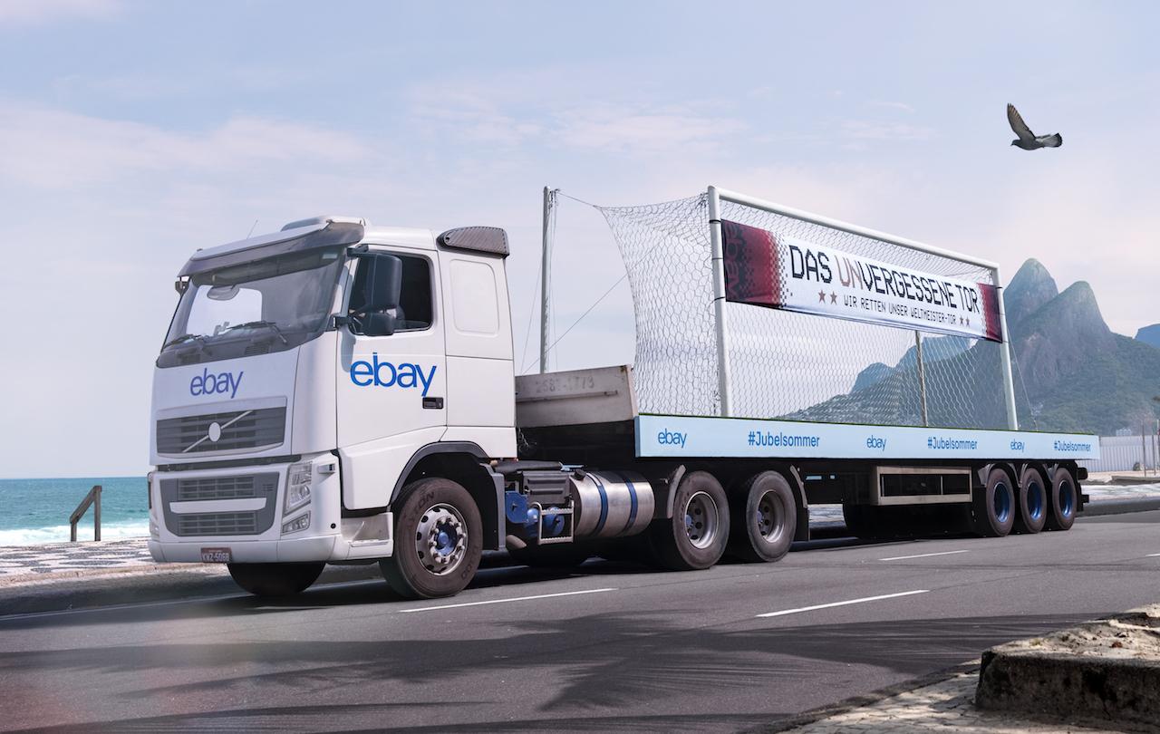 eBay bringt WM-Tor nach Deutschland.Foto: eBay