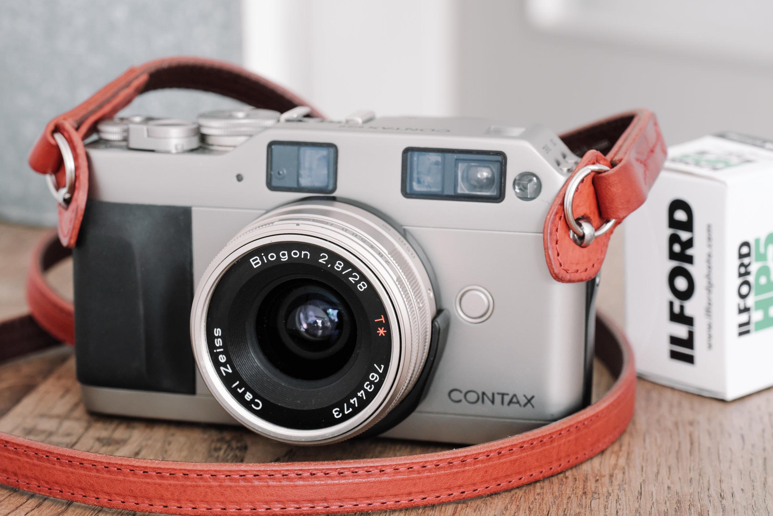 Contax G1 mit Carl Zeiss Biogon 2.8/28 (Foto:  Oliver Symens )