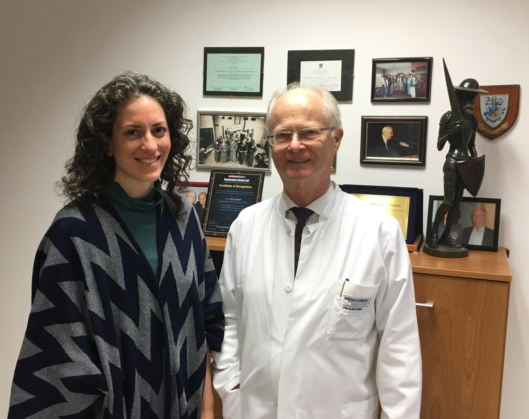 Dr. Karl Aigner and Colleen Flowers in November 2017