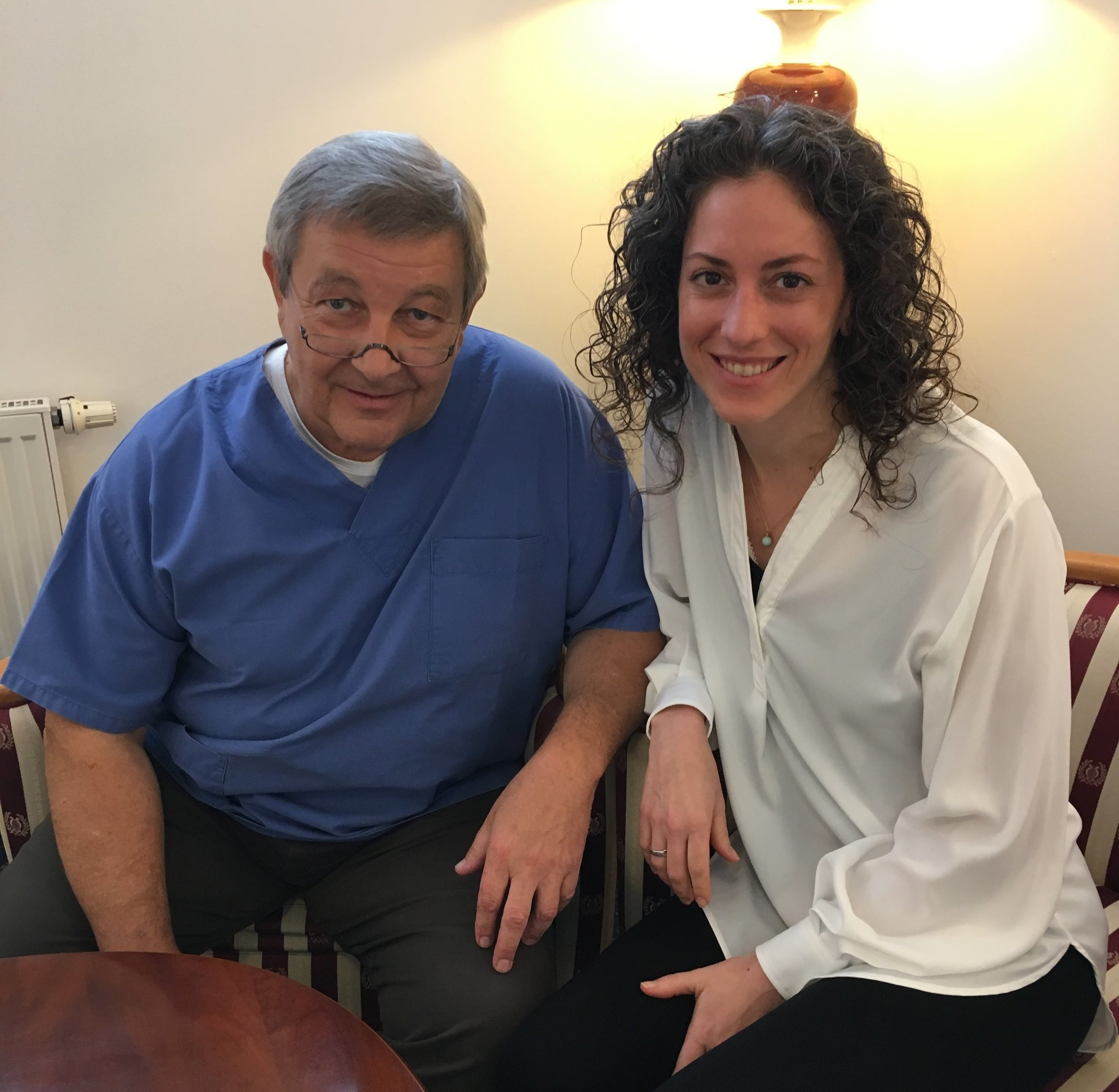Dr. Axel Weber and Colleen Flowers in December 2017