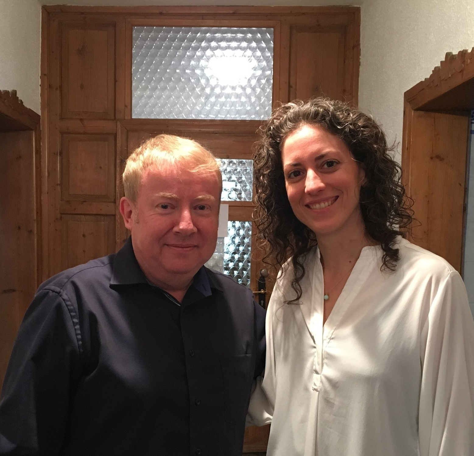 Dr. Frank Daudert and Colleen Flowers in December 2017