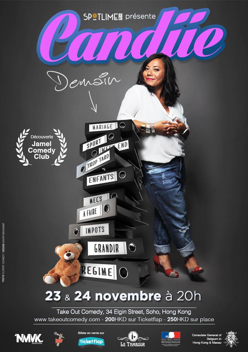 """Candiie dans """"Demain"""" les 23 et 24 novembre 2016 à Hong Kong après 2 dates à Shanghai."""