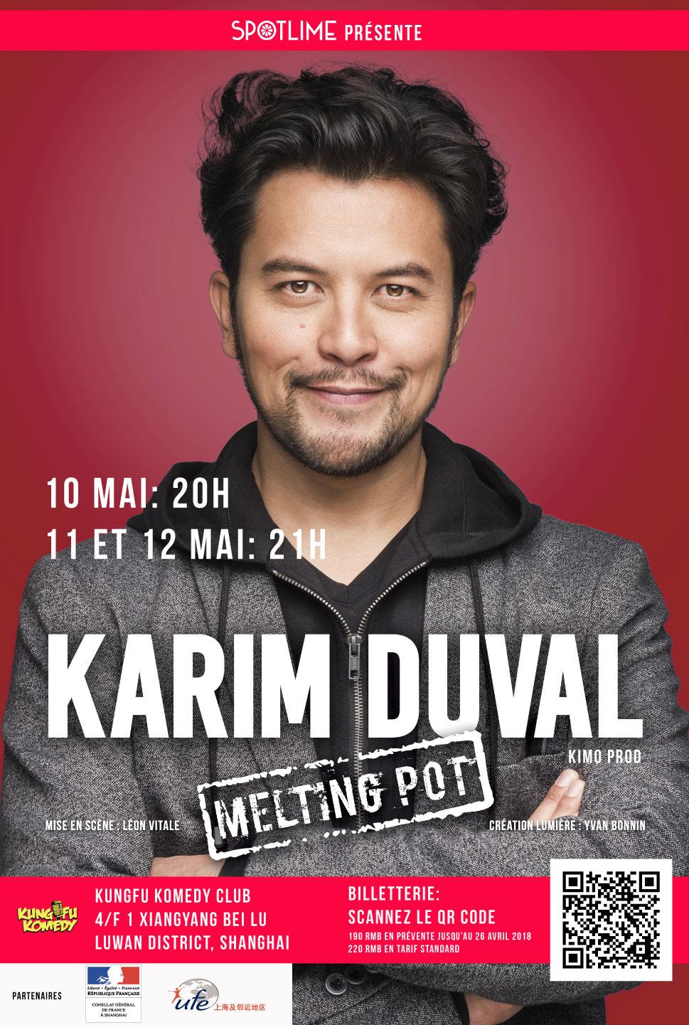 Karim Duval en tournée à Shanghai, Pékin, Hong Kong, et Bangkok en mai 2018