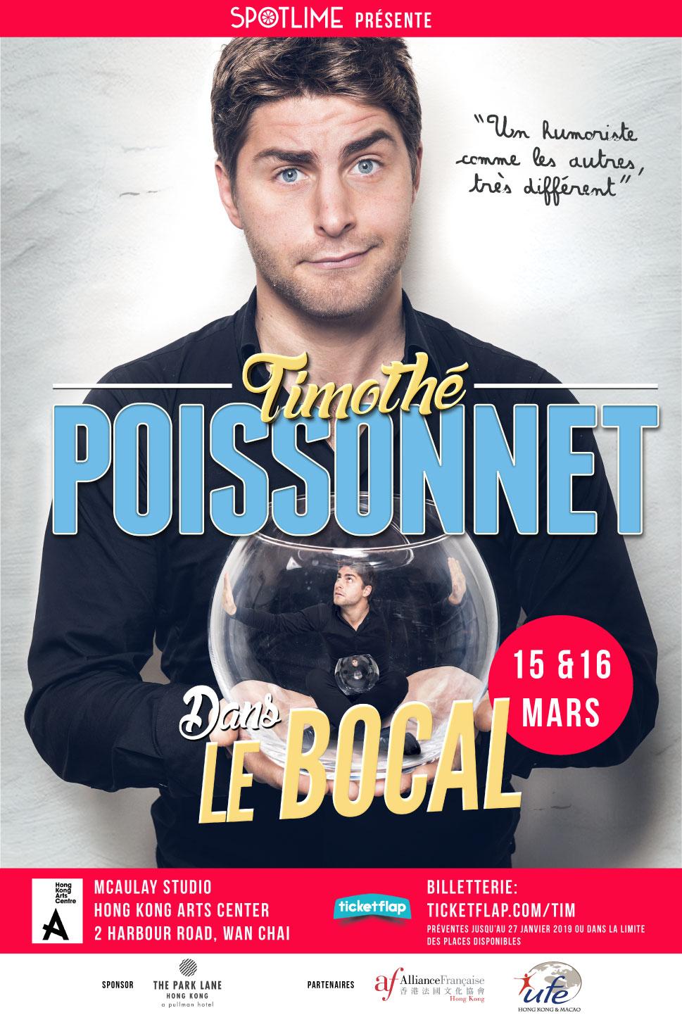 Timothé Poissonnet était en tournée à Shanghai, Bangkok, Hong Kong, et Singapour en mars 2019