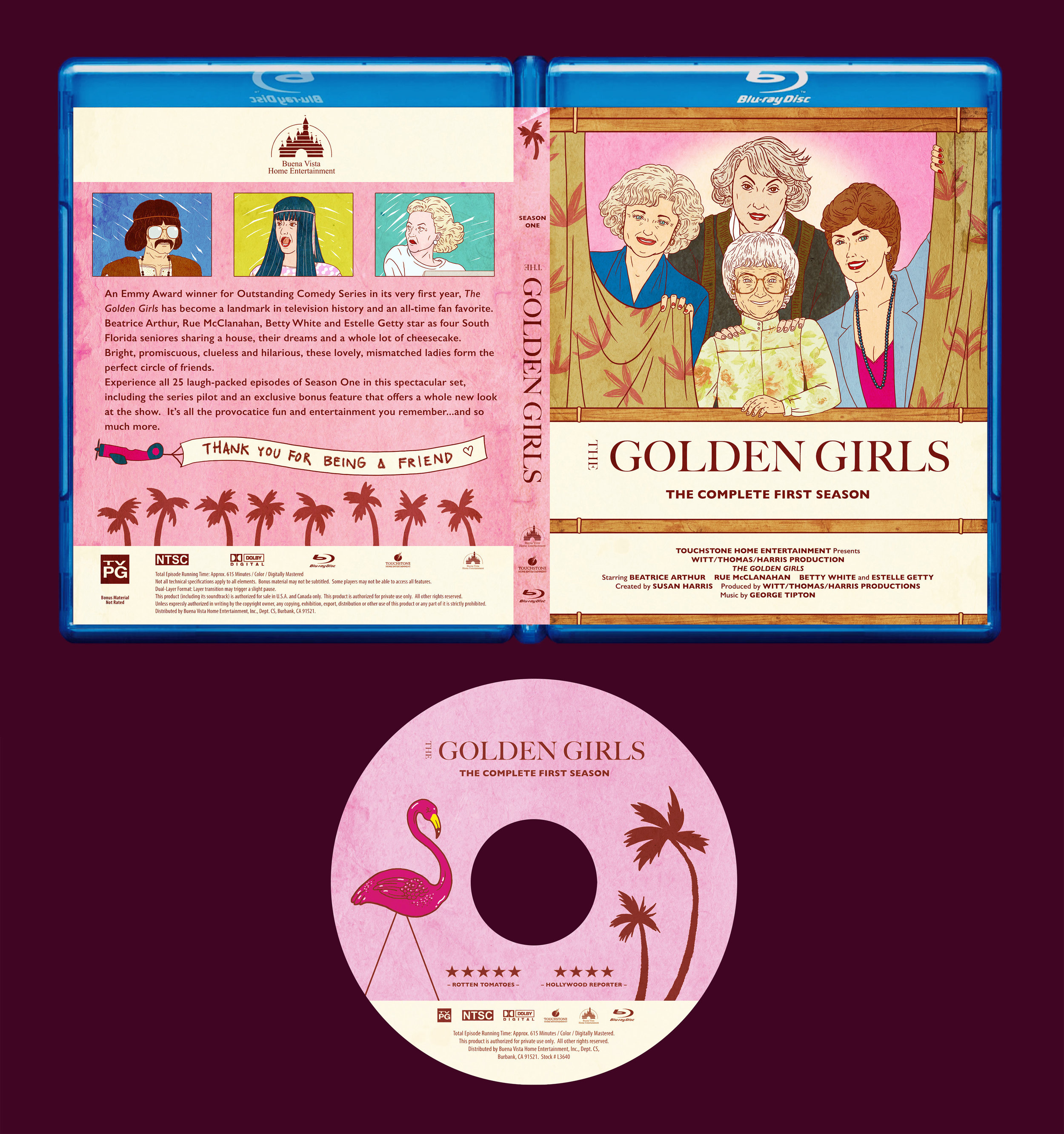 MINI-SYS.COM Shirley Susilo golden girls 1 bluray packaging disc label design square.jpg