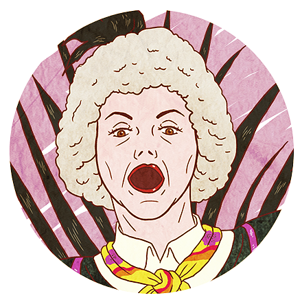 Shirley susilo golden girls 2 b bluray back spot illustration dorothy.png
