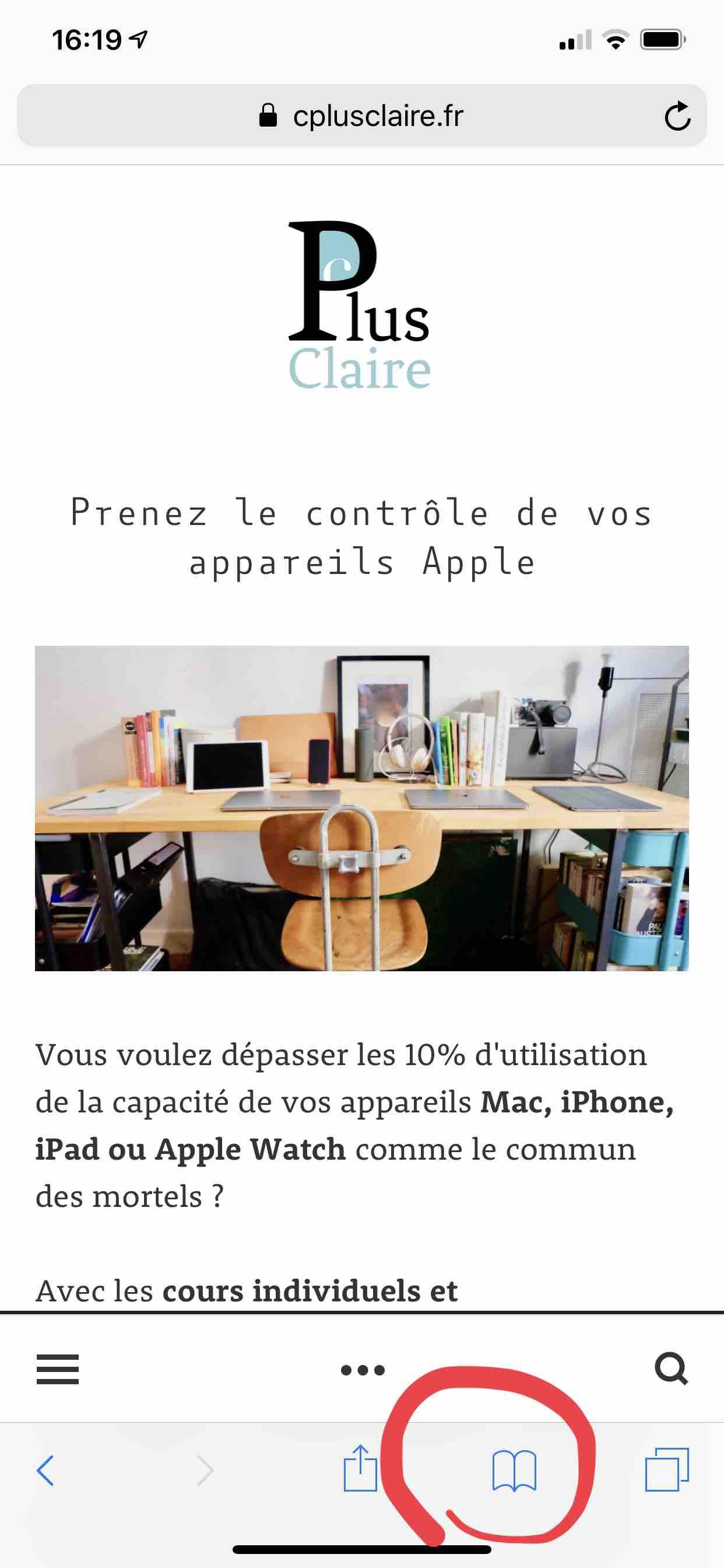 Apple_iPhone_Safari_Signet_liste de lecture_Web_Internet