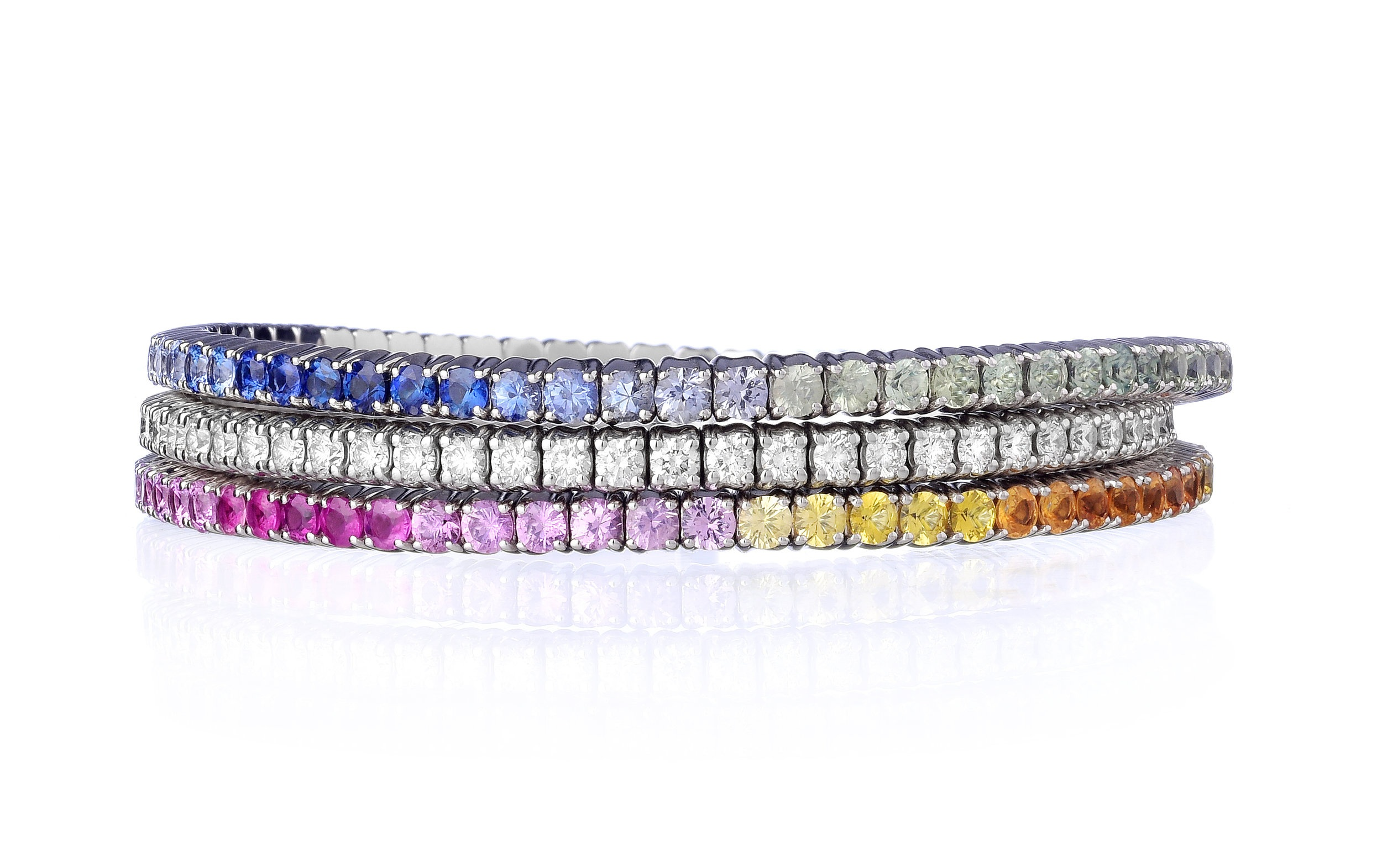 RAINBOW TENNIS BRACELETS - BY MSB JEWELLERY