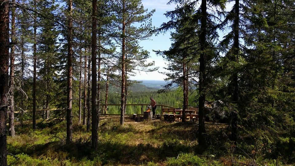 Brännbergsutsikten, invigdes 2017. Foto: Kerstin Hellberg.