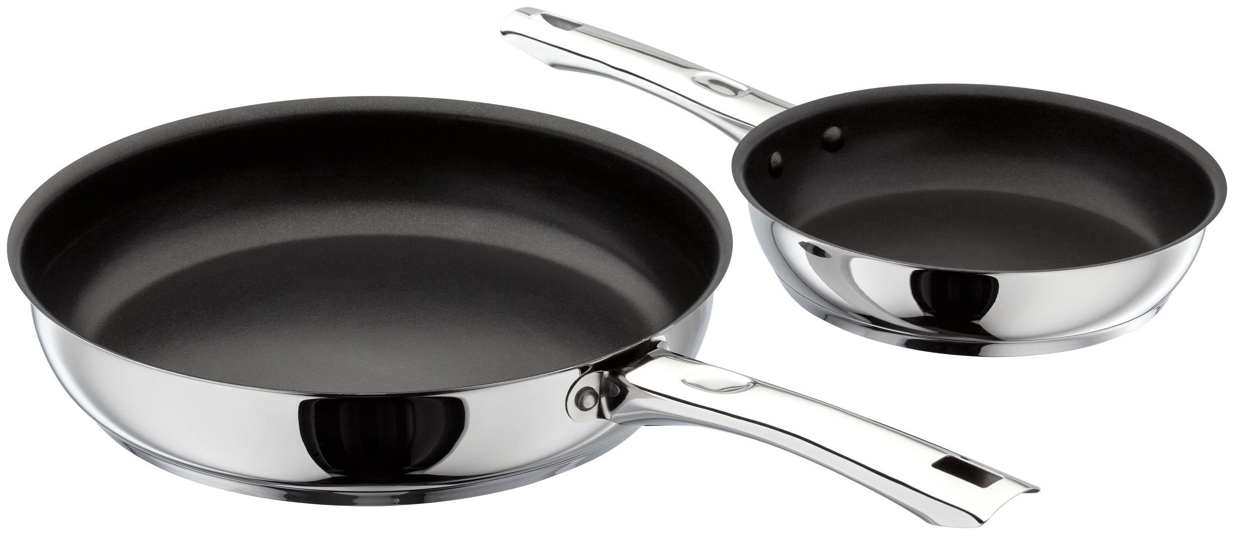 Kaufmann Sienna 2 Piece Frying Pan Set, Stainless Steel
