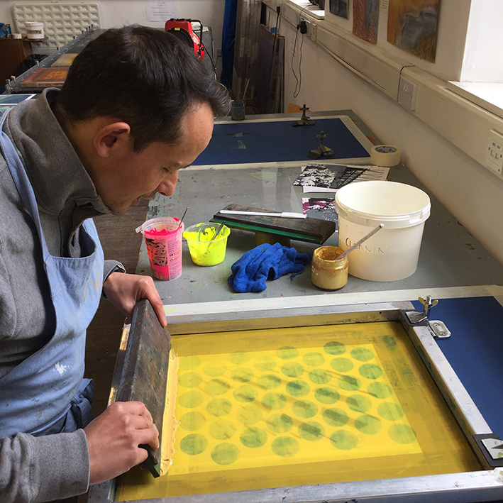 Screen Printing on Paper £48 BOOKING LINK - Sunday 27th October 10am - 3.30pmIn this 1 day workshop you'll be introduced to simple but effective stencil screen printing techniques and layered colour using transparent and opaque inks to create a portfolio of unique designs.