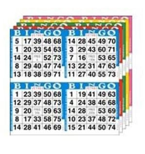 8 pack of 4 game cards - each card will be used for one prize basket