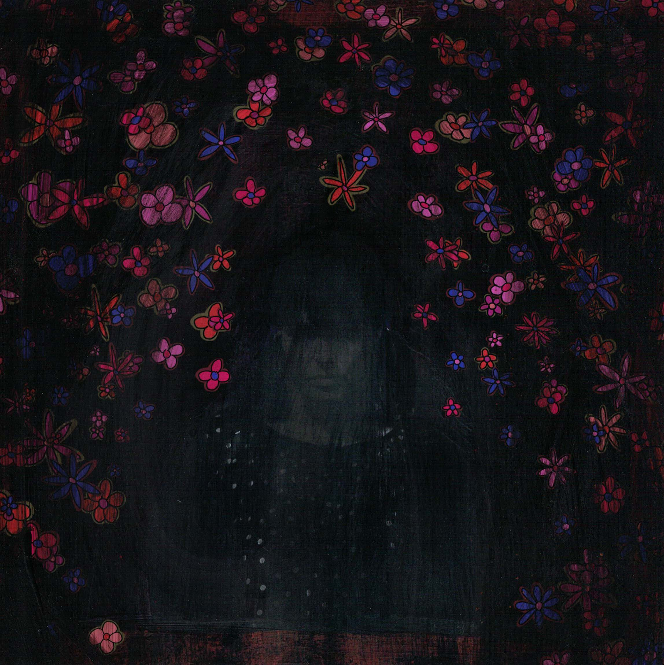 dark disappointment with flowers