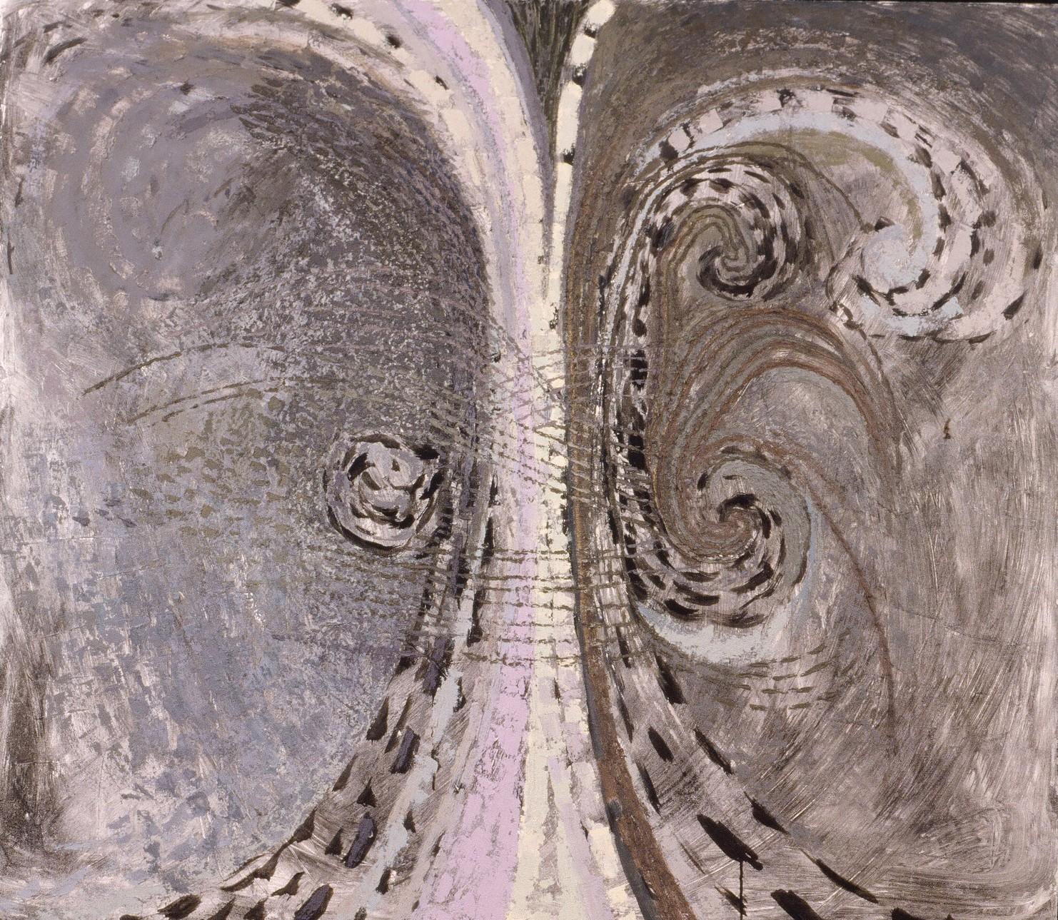 """Spiral Tree III, oil, 56""""x64"""", 1990"""
