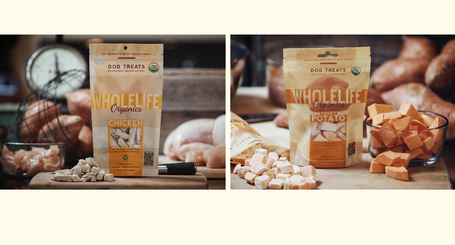 Whole Life Pet Products | Logo & Package Design, Product Photography