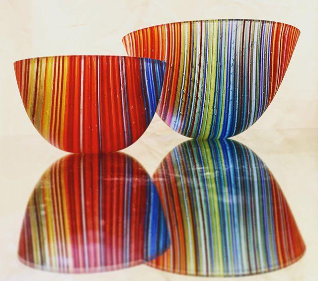 Seeing double.... preview for London Design Fair, 19-22 Sept, Truman Brewery, London #bluepatch #ldf2019 #glassvessel #kilnformed glass #glasscourses #glasslighting #glassartist #glassart