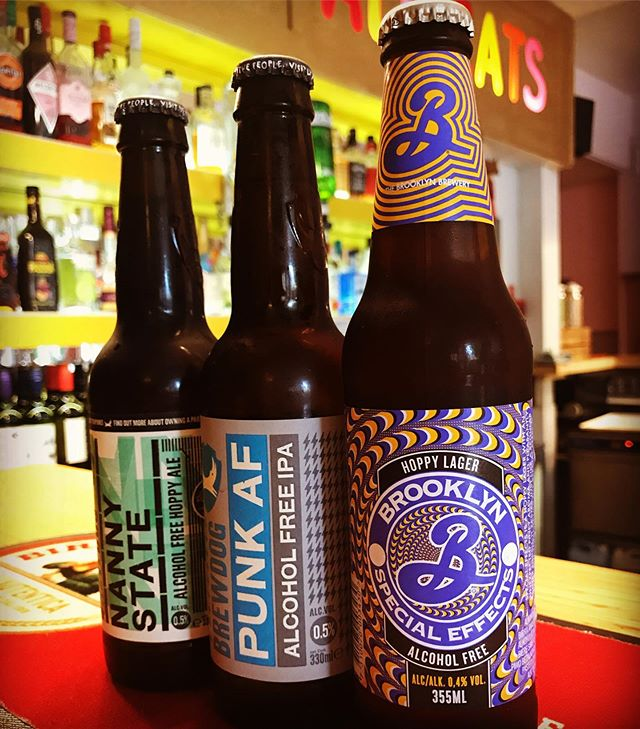 Exciting Selection of Low ABV Beers Available at The Nags😻😻🍻 Brooklyn Special Effects Hoppy Lager  0.4% ABV 🍺 Brewdog Punk AF IPA 0.5%ABV 🍺 Brewdog Nanny State Hoppy Ale 0.5% ABV 🍺 #lowabv #lowabvbeer #brooklynspecialeffects #brewdog #brewdogbrewery #punkaf #alcoholfree #hoppylager #hoppypaleale #pub #drinks #catpub #ipa #bottledbeer
