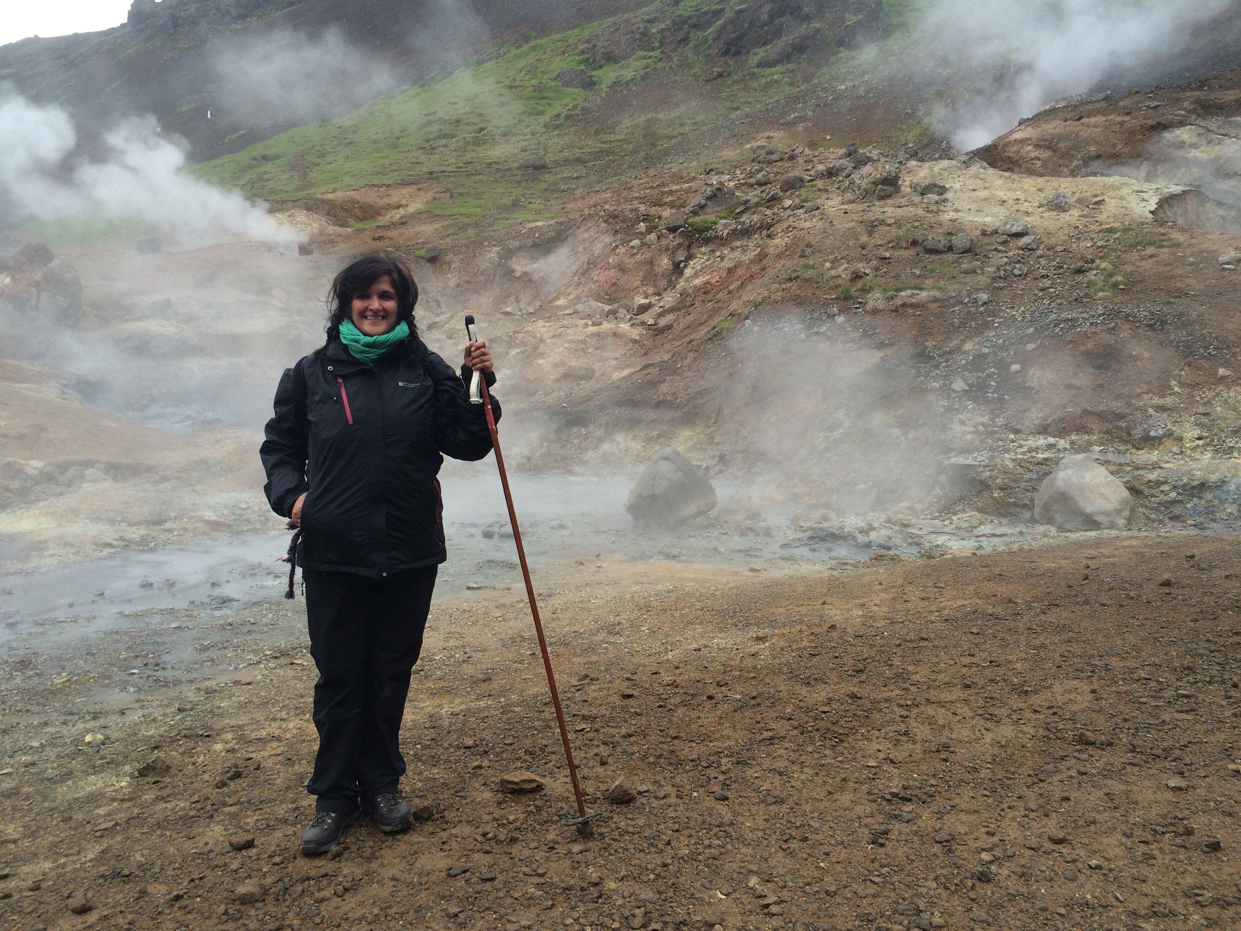 volcano hike with bad hair