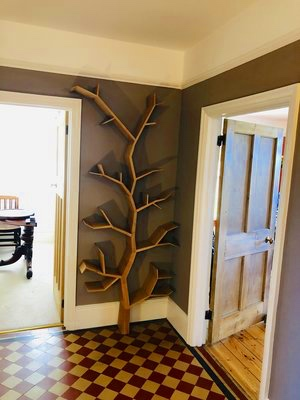 Oak Tree Shaped Bookcase