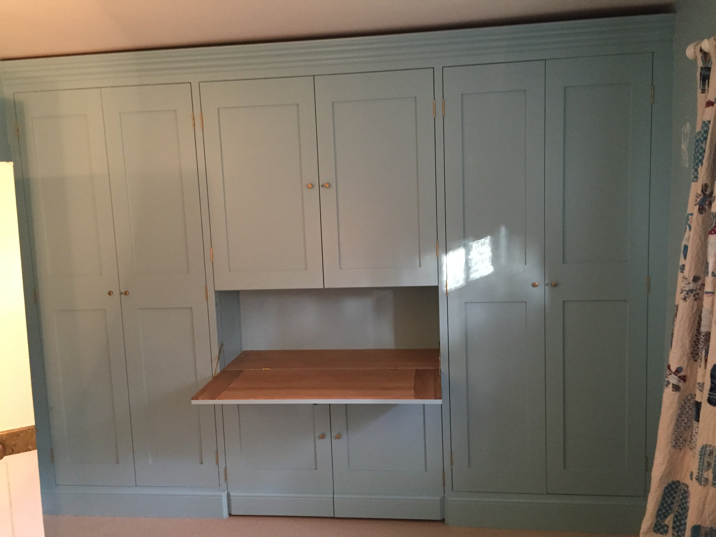 Built in Cupboards with Oak Desk