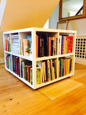 Bookcase on wheels