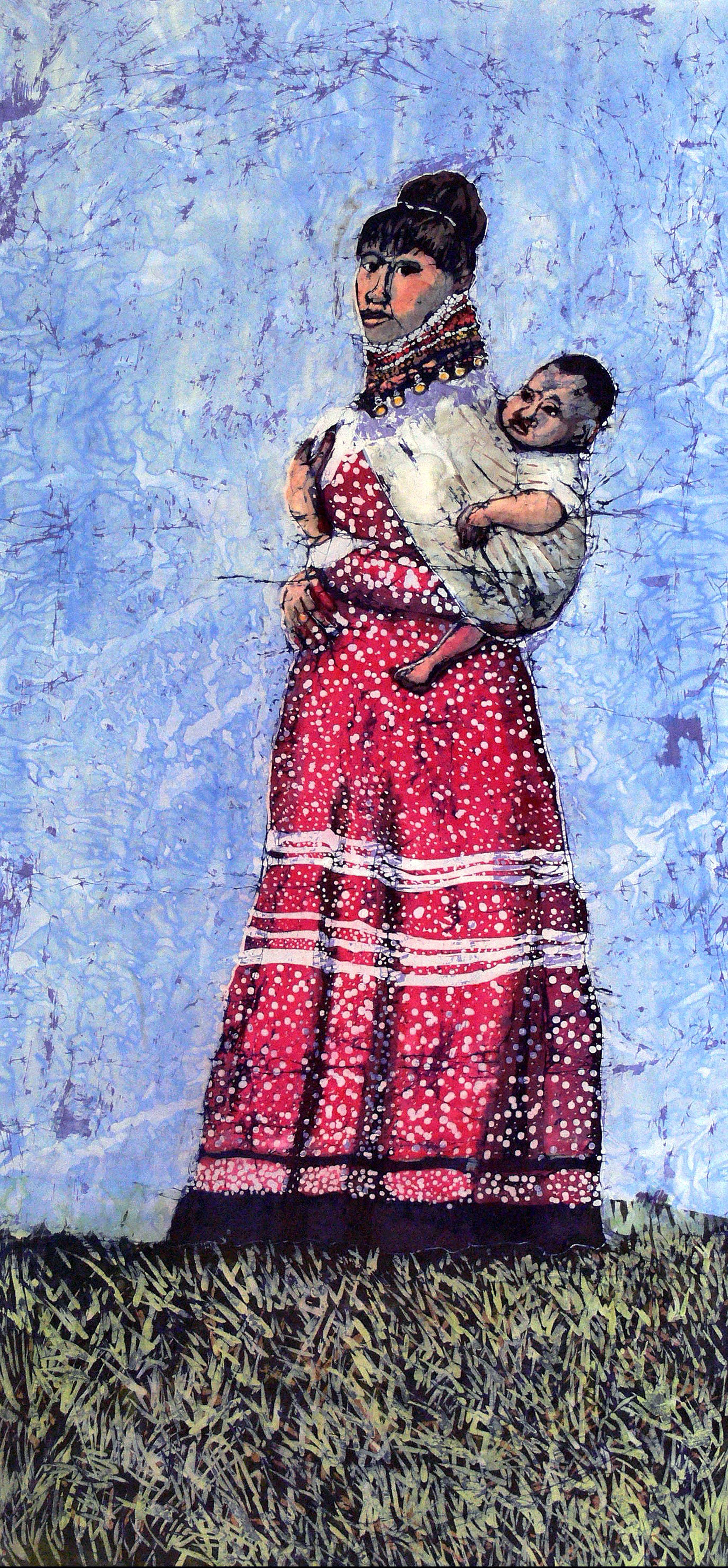"""Muffy Clark Gill  """"Seminole Mother and Child 2"""""""