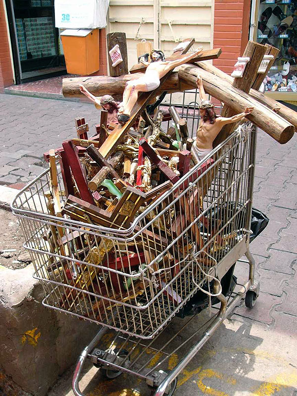 """Christ in a Cart"" photograph  11 x 14 in"