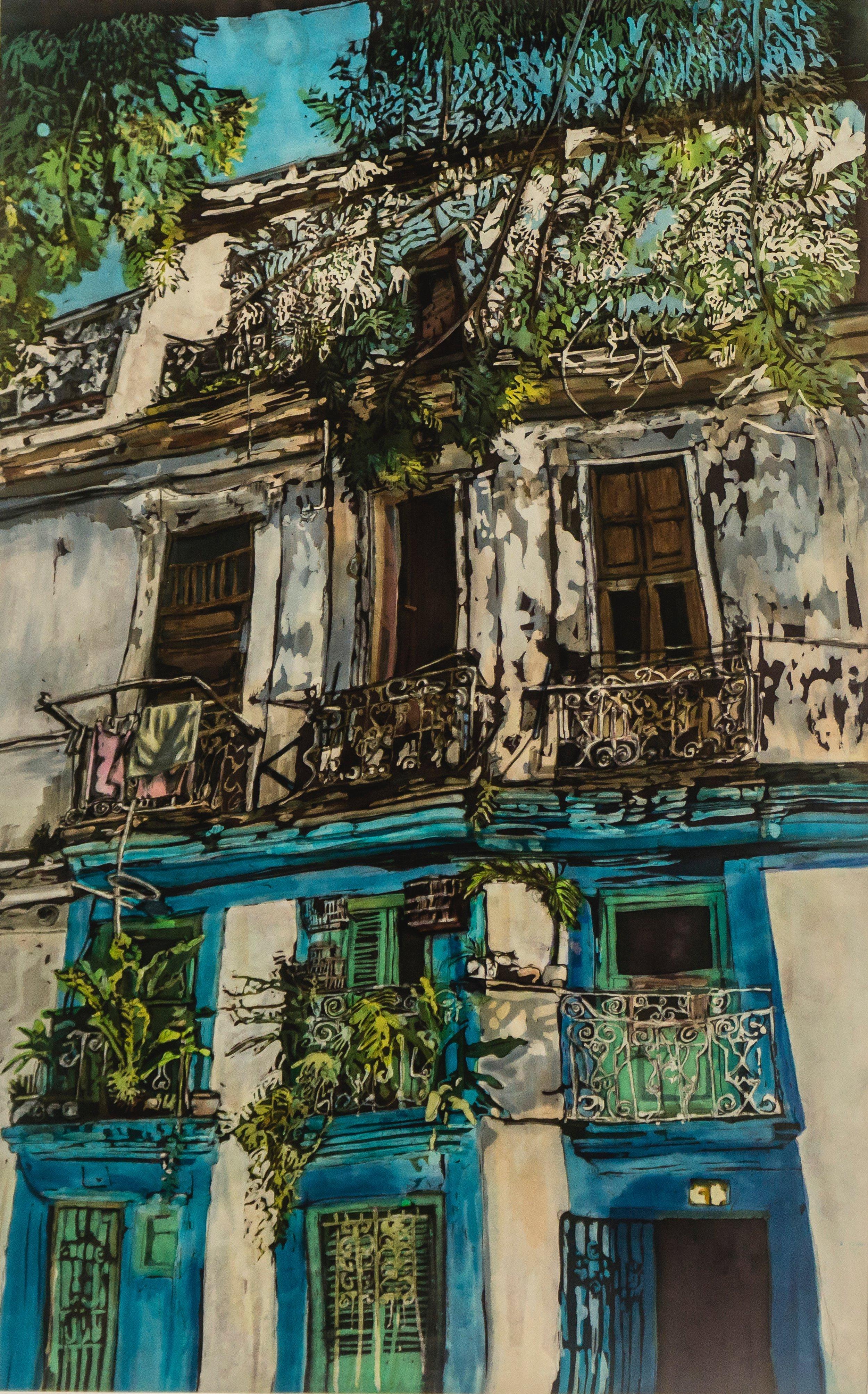 """Muffy Clark Gill """"Wash Day: Habana Viejo"""""""