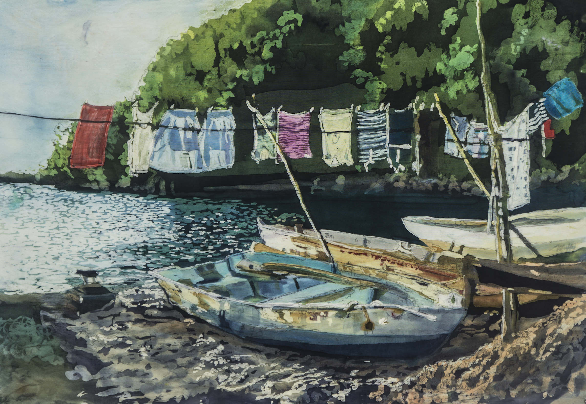 "Muffy Clark Gill  ""Wash Day: St. Lucia"""
