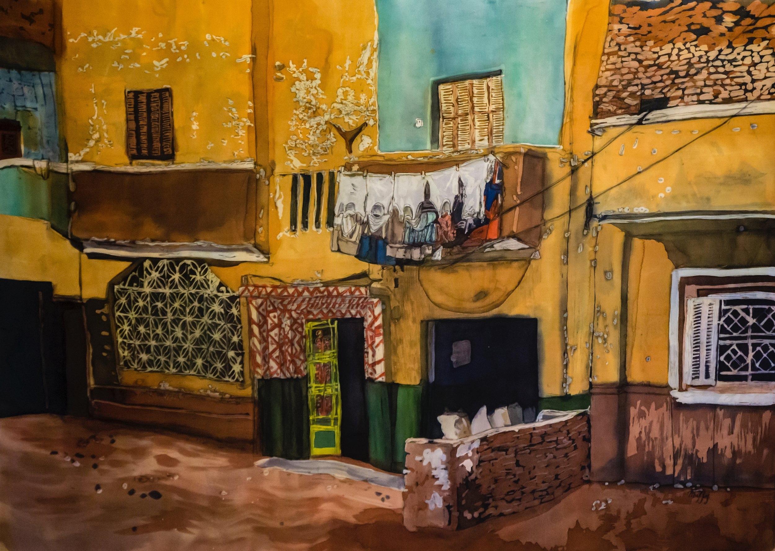 """Muffy Clark Gill  """"Wash Day: Luxor"""""""