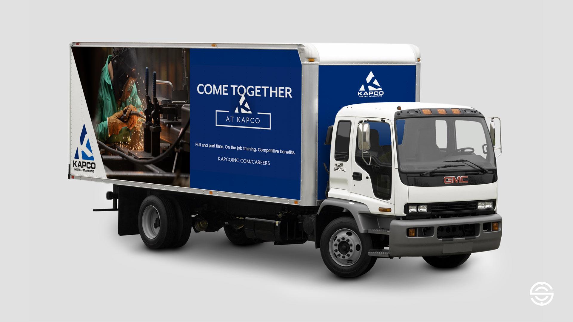 Recruitment Campaign Truck Graphic