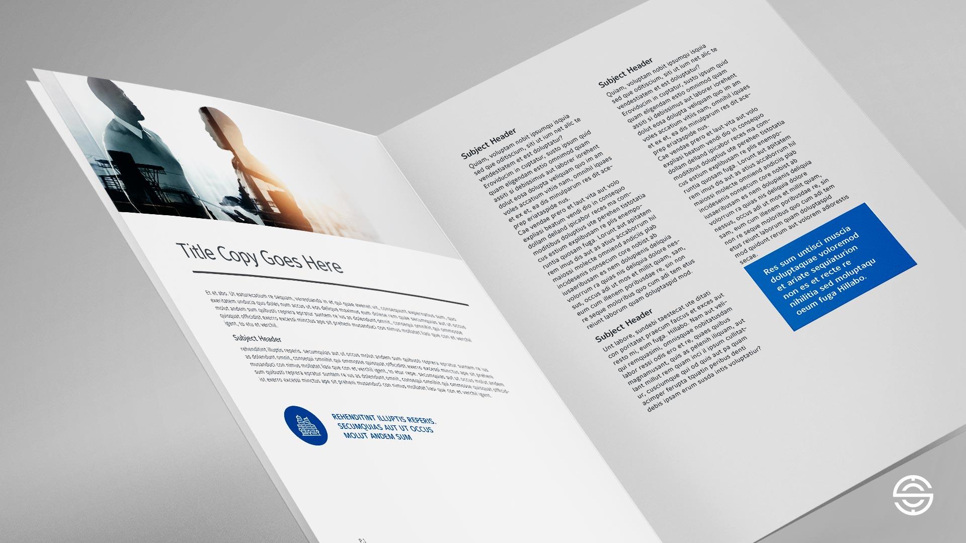 Proposed Johnson Controls Digital Solutions spread design.