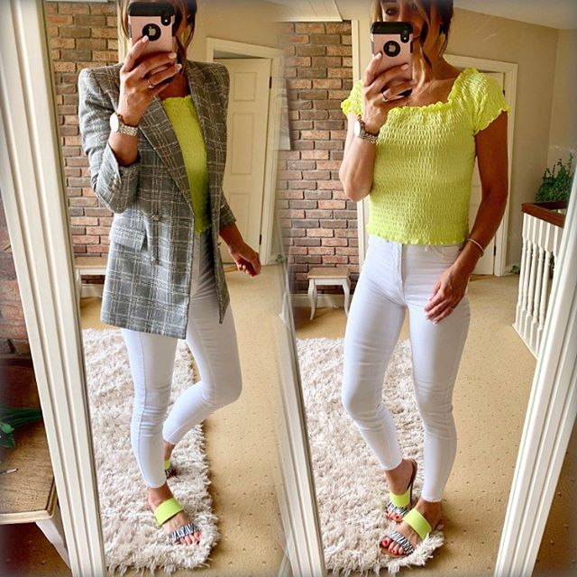 Smart casual made easy! 💛💛Ok got a big helping hand with some really gorgeous pieces in @fandfclothing for next to nothing!! Are made by @nextofficial so are superb quality. Like honestly!! Nearly seems too good to be true ⭐️⭐️bought loads this week so will show you as soon as I can 😘so just like this little lime top for €10.50 and super gorgeous block and zebra flats for €16. Fired on my trusty @zara blazer and @riverisland skinny's and boom I'm ready xx #smartcasual #smartcasualdressing #fandfclothing #next #summeroutfit #lime #white #tesco #onlineshopping #fashionblogger #stylist #instafashion #dailyfix