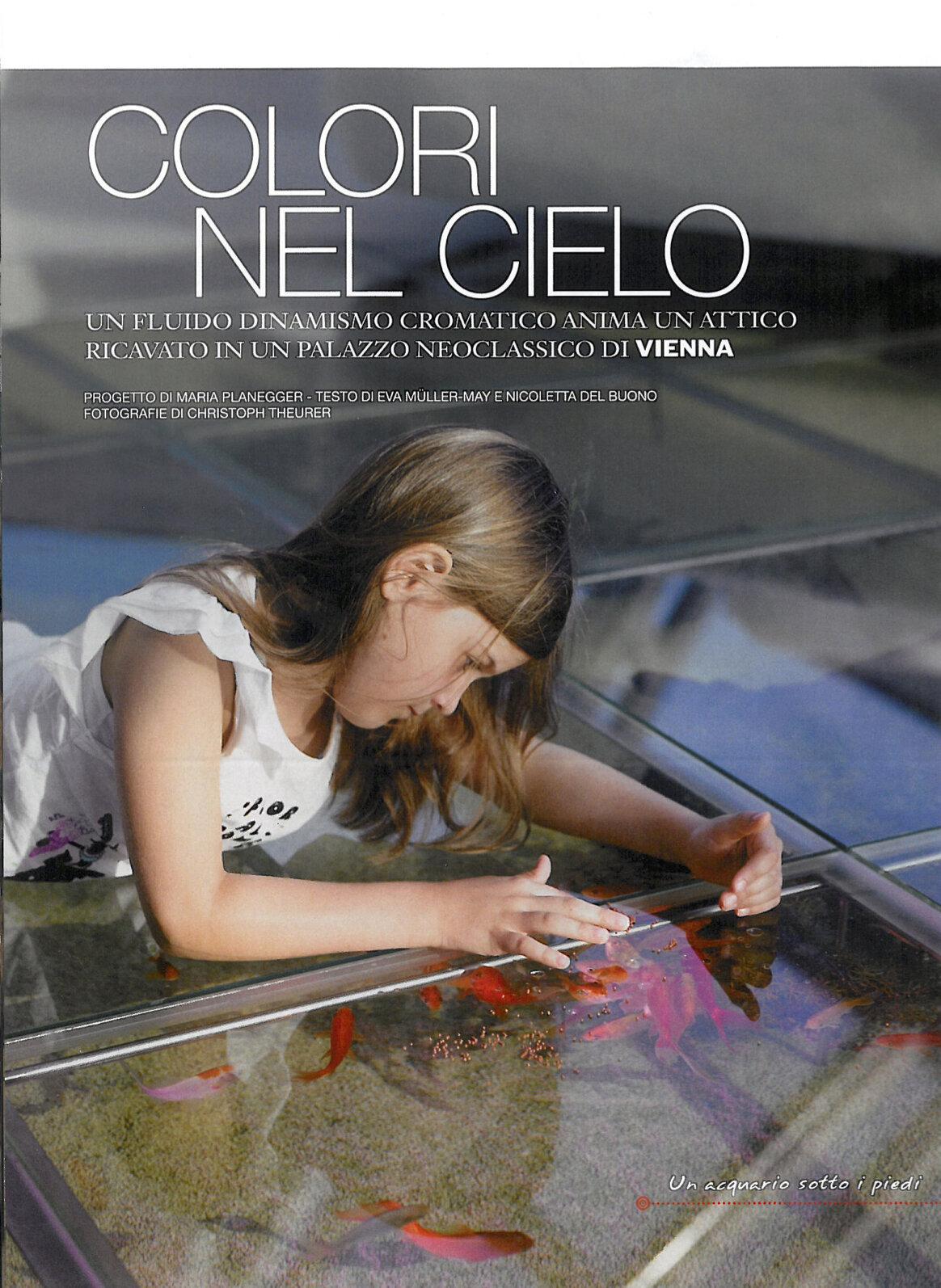 A roof top animated by chromatic fluid dynamics - Feature in print magazine AD Italia
