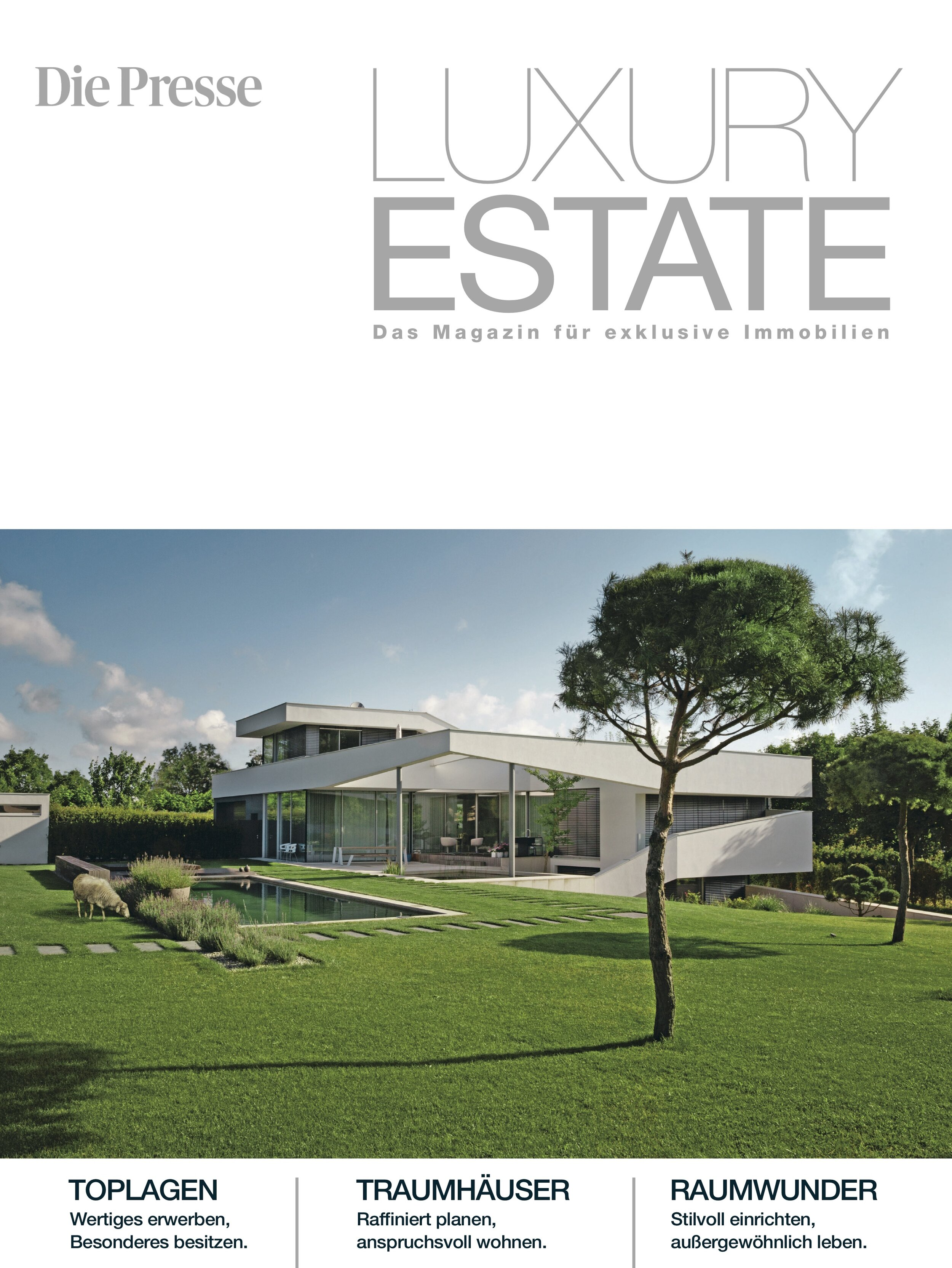 Strictly-pretty - Coverstory about the garden design of Resicence Kirchtag in print magazine Die Presse