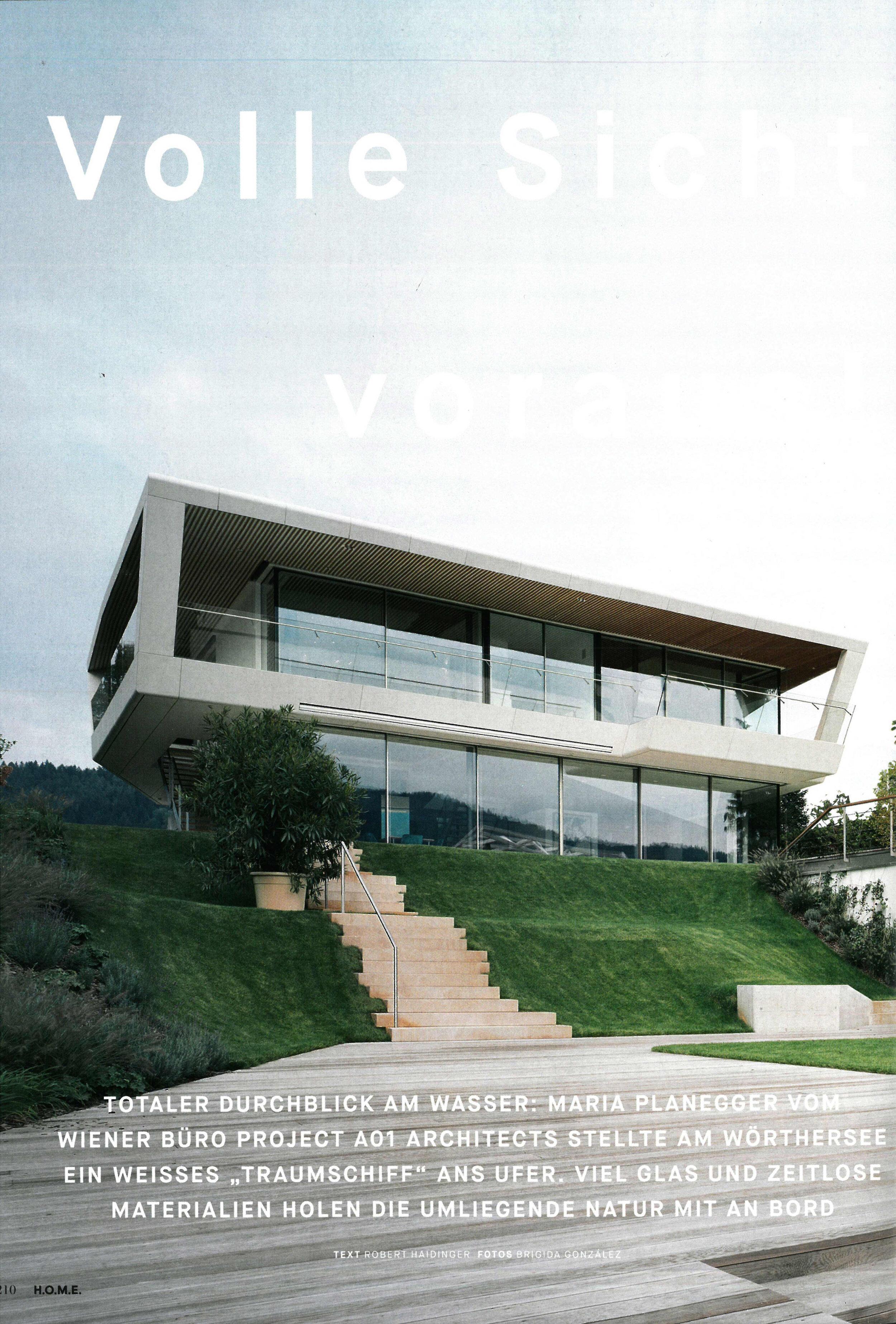 Full view ahead - Feature in print magazine H.O.M.E.