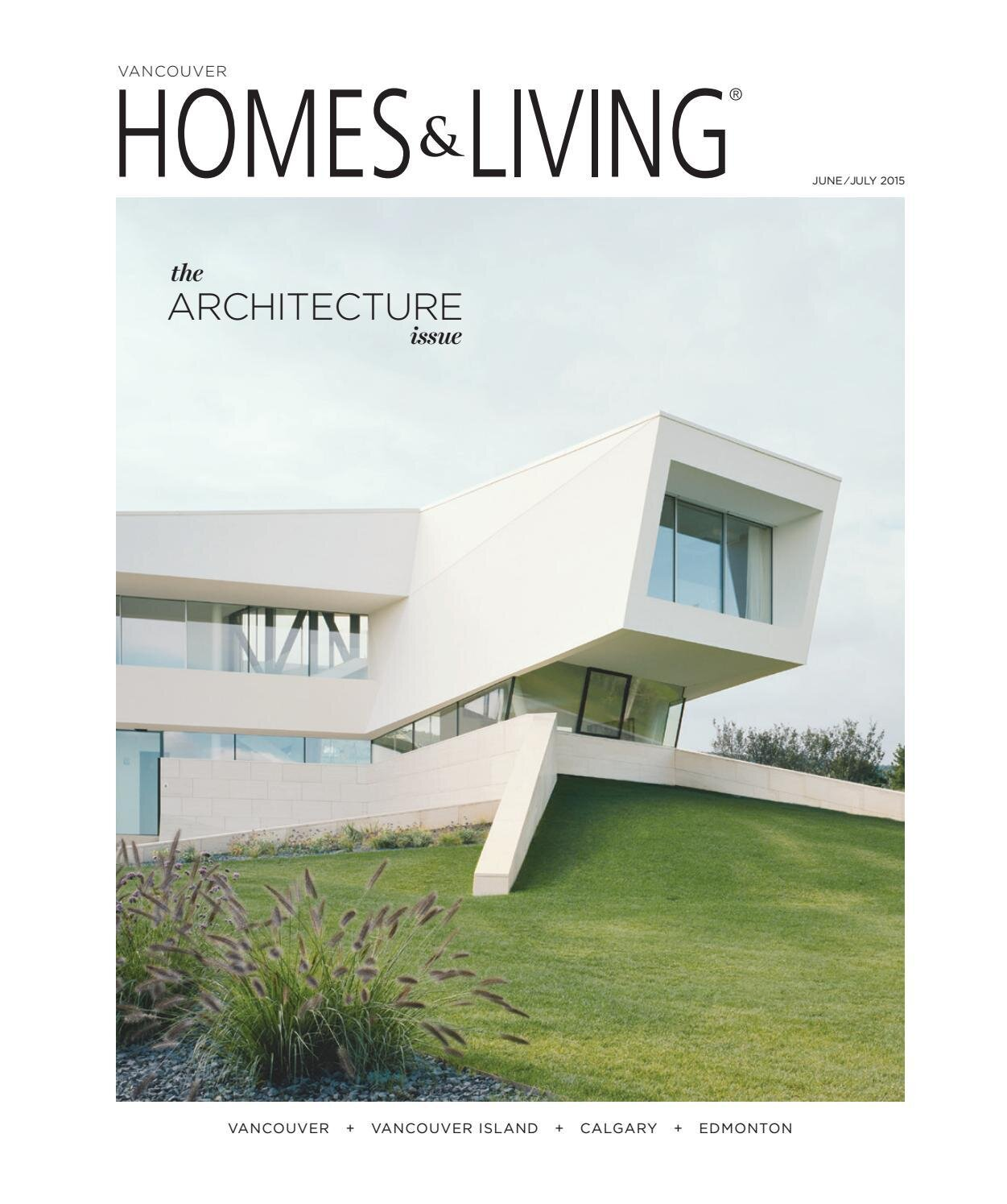 Far out homes - Integrated modern architecture and garden design - Coverstory in print magazine Homes & Living