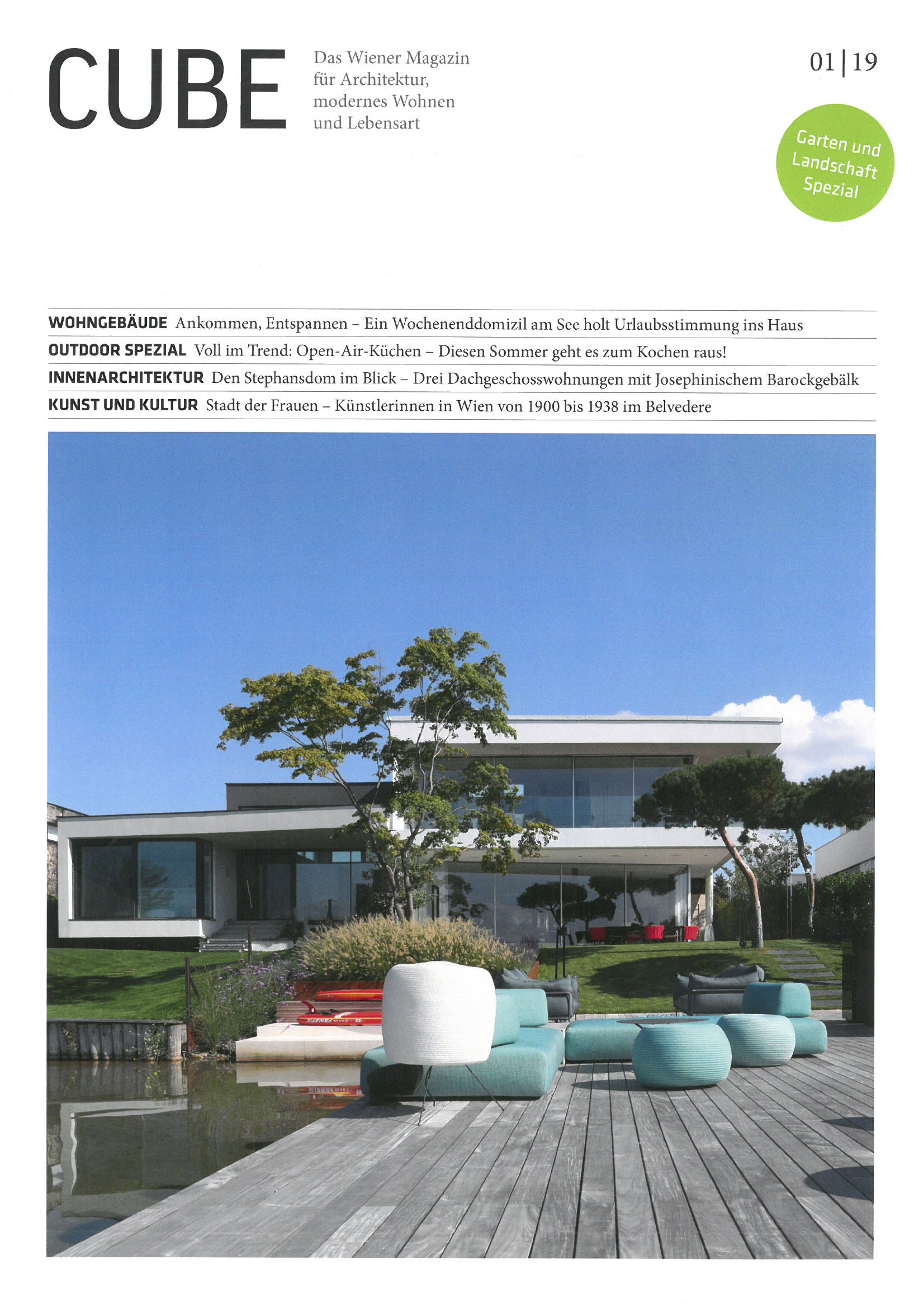 Arrive and relax - Coverstory in print magazine CUBE