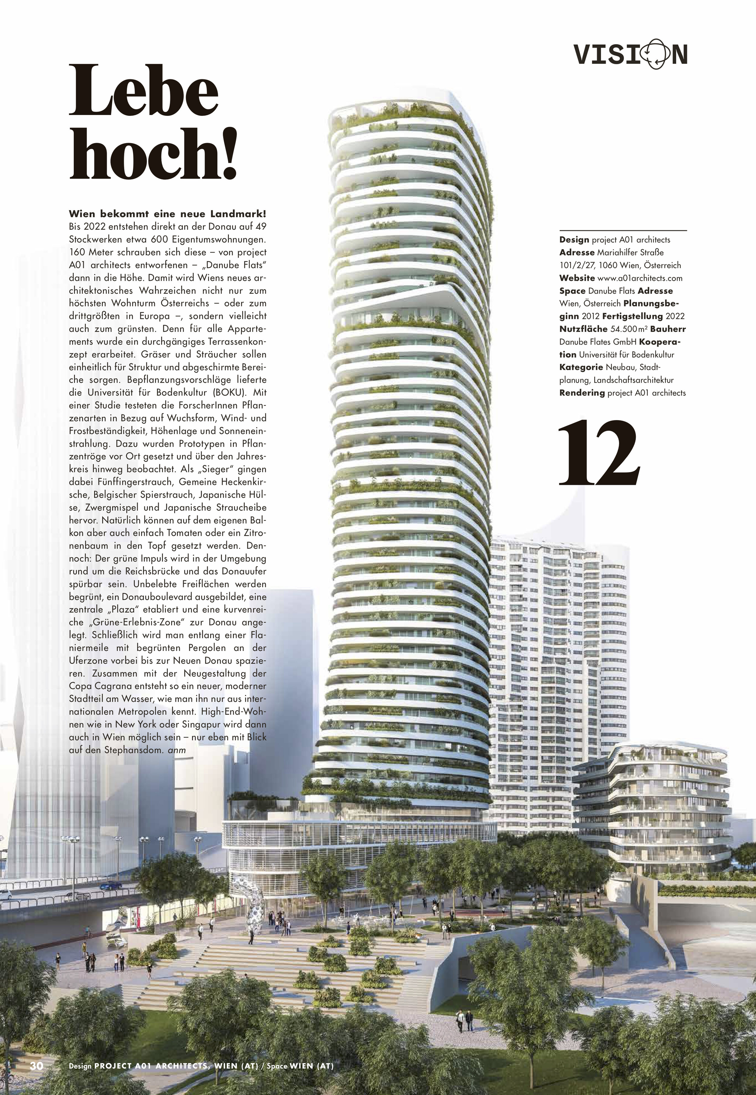 Green terraces high up in the sky - Feature in magazine 100 green spaces