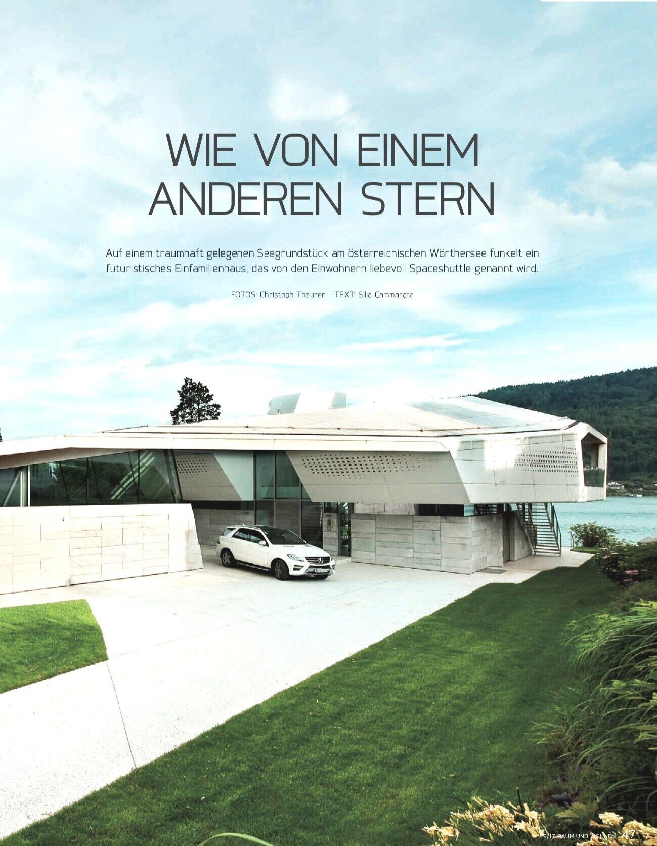 Like from another star - Feature in magazine Raum und Wohnen
